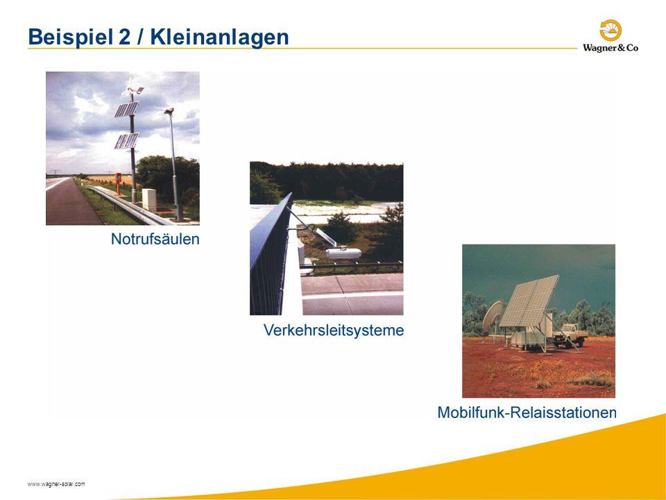 www.wagner-solar.com Beispiel 2 / Kleinanlagen