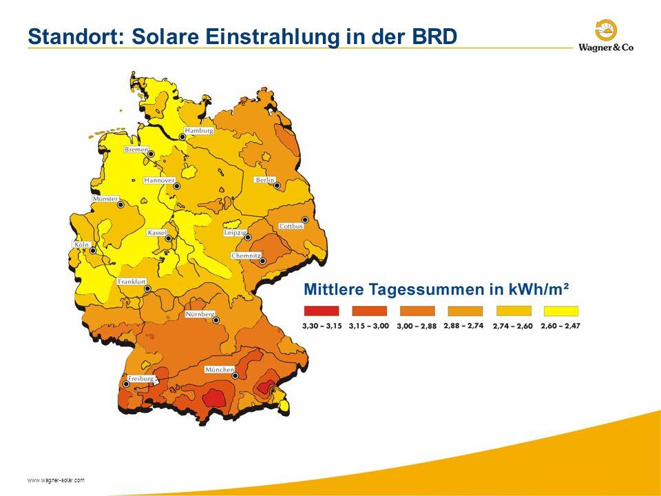 www.wagner-solar.com Standort: Solare Einstrahlung in der BRD