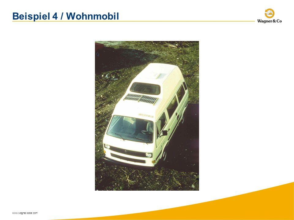 www.wagner-solar.com Beispiel 4 / Wohnmobil