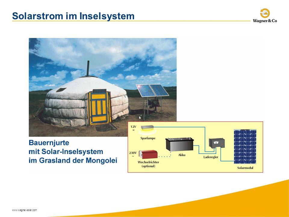 www.wagner-solar.com Solarstrom im Inselsystem