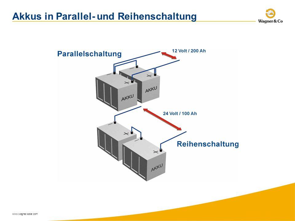 www.wagner-solar.com Akkus in Parallel- und Reihenschaltung