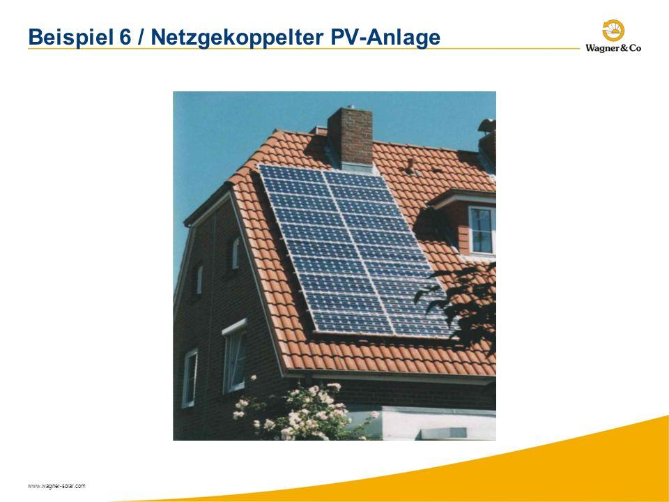 www.wagner-solar.com Beispiel 6 / Netzgekoppelter PV-Anlage