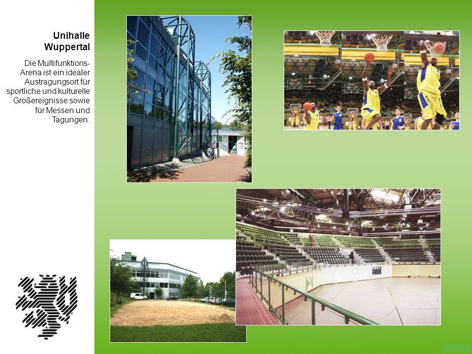 Die Multifunktions- Arena ist ein idealer Austragungsort für sportliche und kulturelle Großereignisse sowie für Messen und Tagungen. Unihalle Wupperta