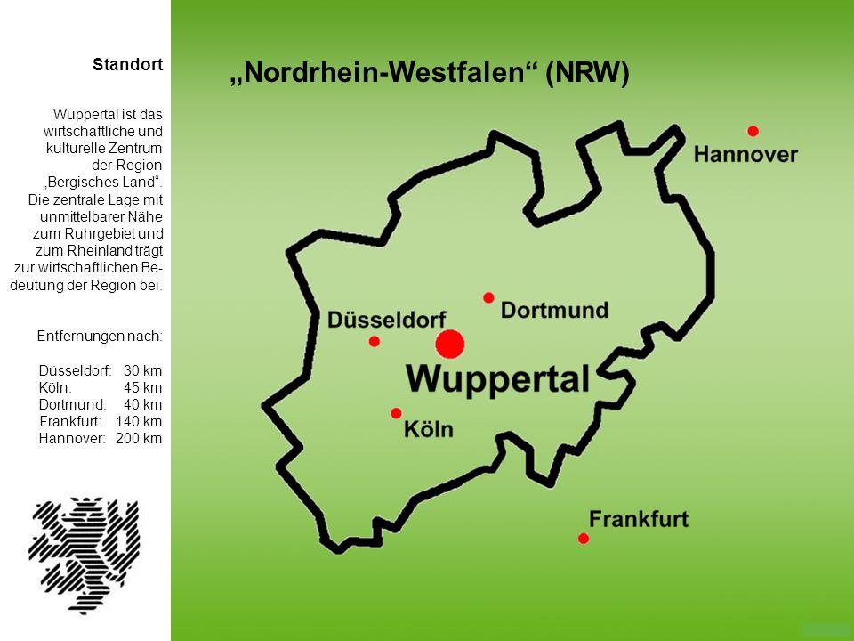 Wuppertal ist das wirtschaftliche und kulturelle Zentrum der Region Bergisches Land. Die zentrale Lage mit unmittelbarer Nähe zum Ruhrgebiet und zum R