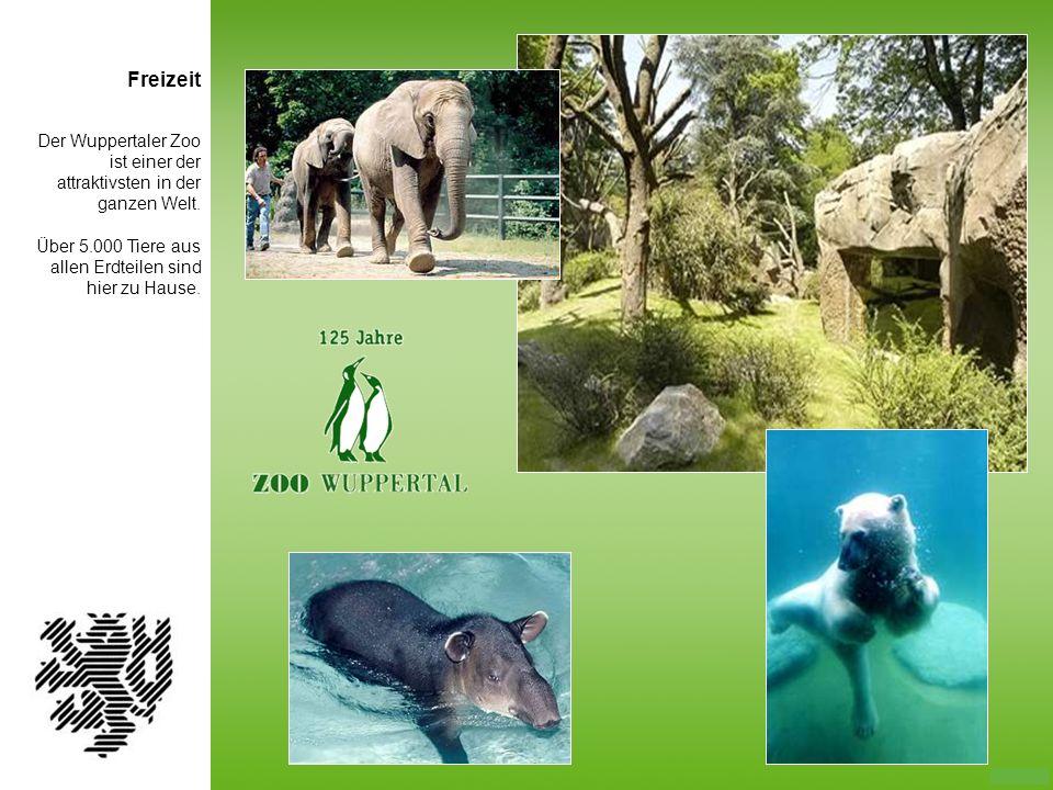Der Wuppertaler Zoo ist einer der attraktivsten in der ganzen Welt. Über 5.000 Tiere aus allen Erdteilen sind hier zu Hause. Freizeit