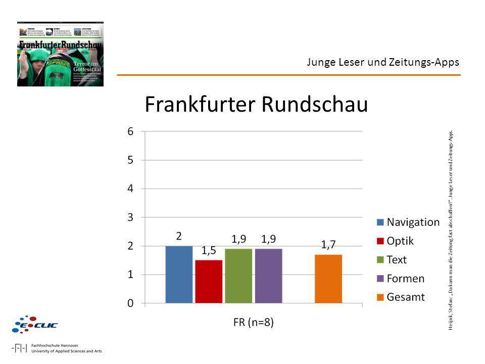 Frankfurter Rundschau Heijnk, Stefan: Da kann man die Zeitung fast abschaffen!. Junge Leser und Zeitungs-Apps.