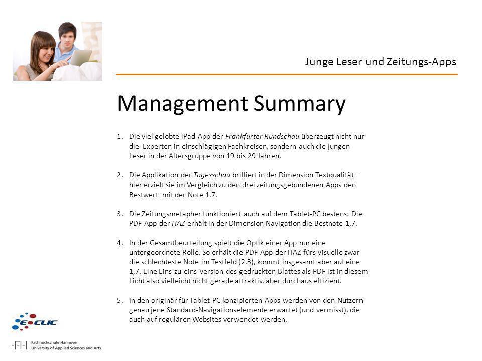 Management Summary 1.Die viel gelobte iPad-App der Frankfurter Rundschau überzeugt nicht nur die Experten in einschlägigen Fachkreisen, sondern auch d