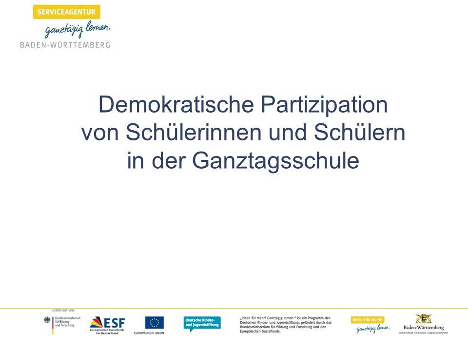 Unterstützung der Entwicklung demokratischer Kompetenzen Vgl.