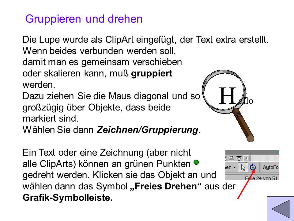 Grafik einfügen Mit der Befehlsfolge: Einfügen/Grafik/... Erhalten Sie ein Auswahl- menü. /ClipArt stellen alle Office-ClipArts zur Verfügung. Grafike