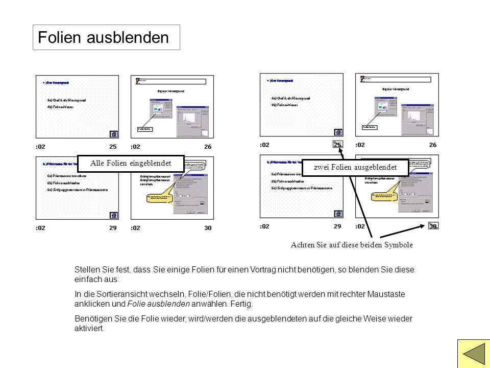 Präsentation einrichten II Ansicht an einem Kiosk Über die Befehlsfolge: Bildschirmpräsentation/Folienübergang... erreichen Sie nebenstehendes Fenster