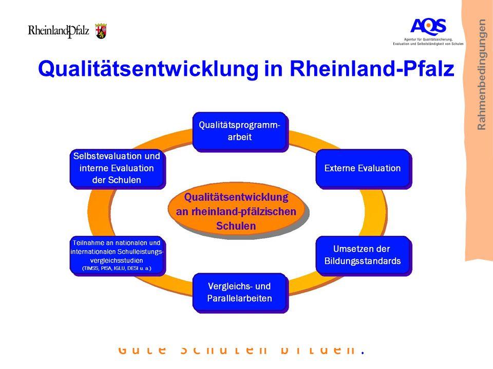 Qualitätsentwicklung in Rheinland-Pfalz Rahmenbedingungen