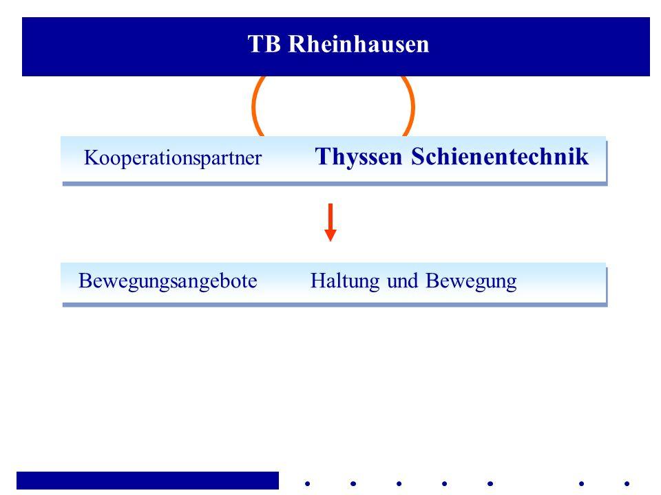 Kooperationspartner Thyssen Schienentechnik Bewegungsangebote Haltung und Bewegung TB Rheinhausen