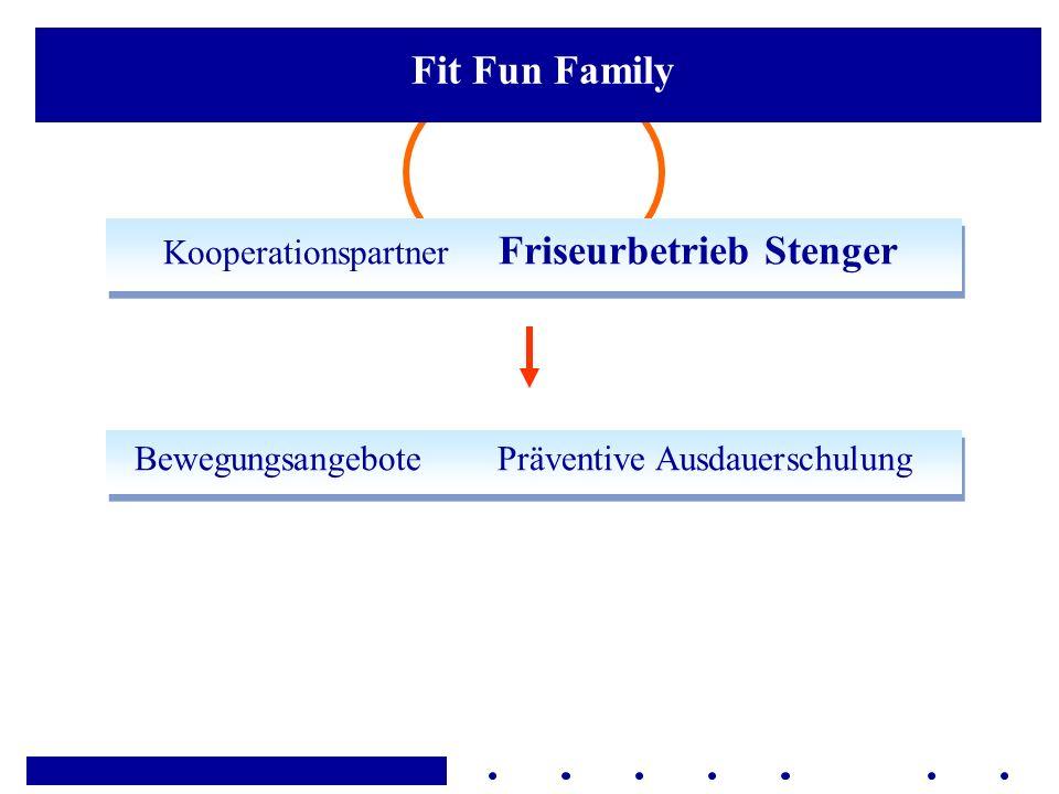 Kooperationspartner Friseurbetrieb Stenger Bewegungsangebote Präventive Ausdauerschulung Fit Fun Family