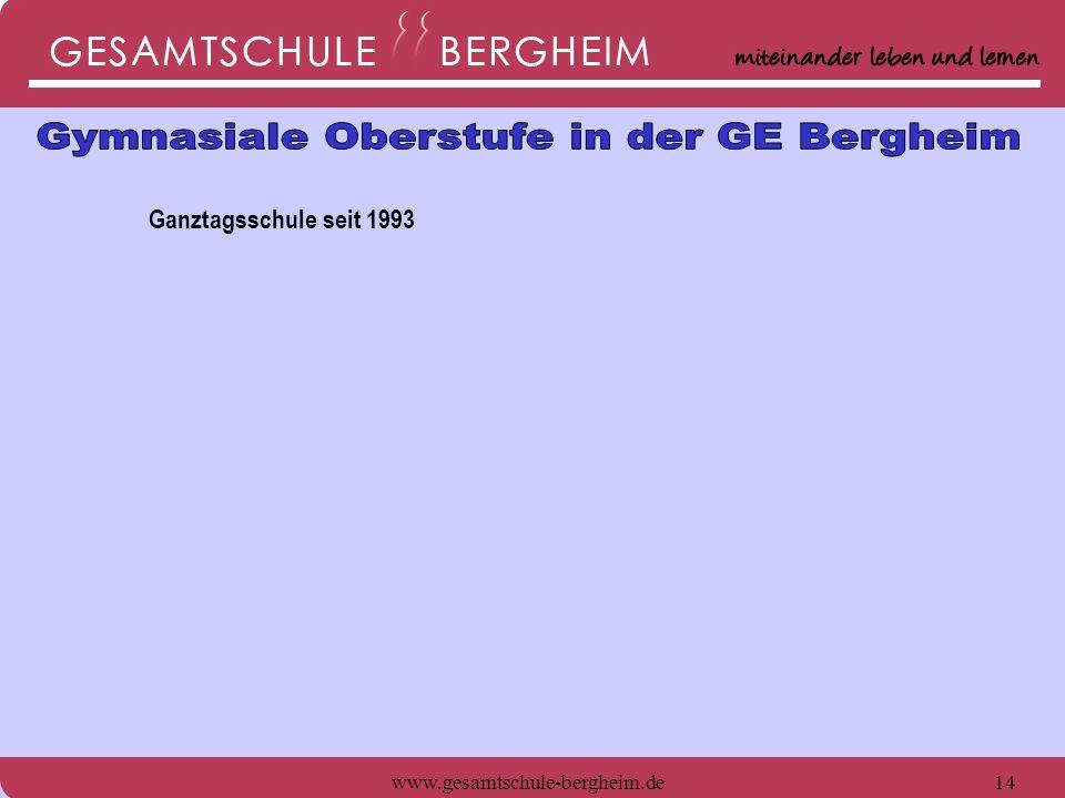 www.gesamtschule-bergheim.de14 Ganztagsschule seit 1993