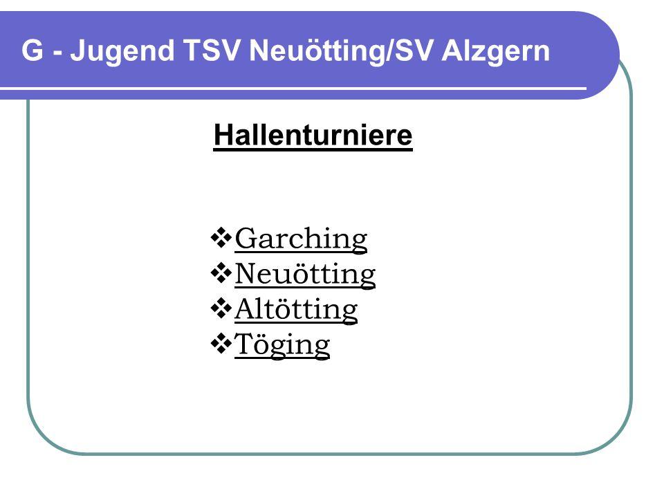 G - Jugend TSV Neuötting/SV Alzgern rniere Unterneukirchen: 7 Spiele, 1 Unentschieden Polling: 5 Spiele, 1 Sieg, 2 Unentschieden ( 3.
