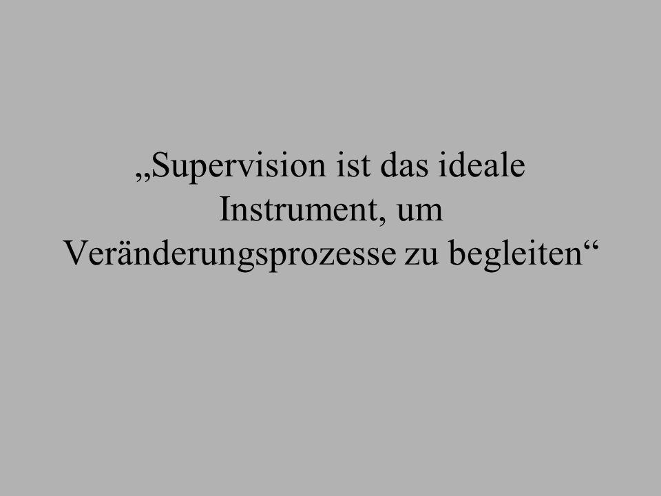 Supervision ist das ideale Instrument, um Veränderungsprozesse zu begleiten