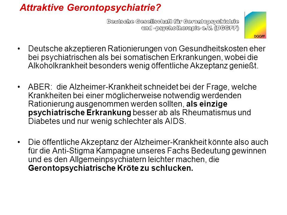 Attraktive Gerontopsychiatrie.