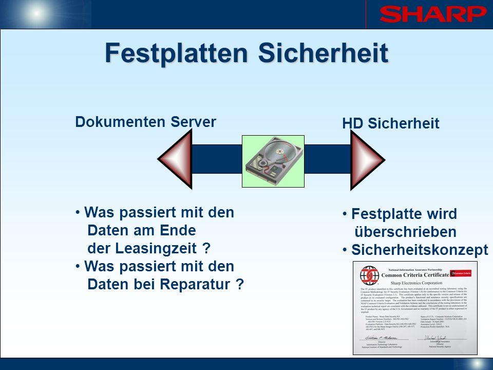 Festplatten Sicherheit Dokumenten Server Was passiert mit den Daten am Ende der Leasingzeit ? Was passiert mit den Daten bei Reparatur ? HD Sicherheit