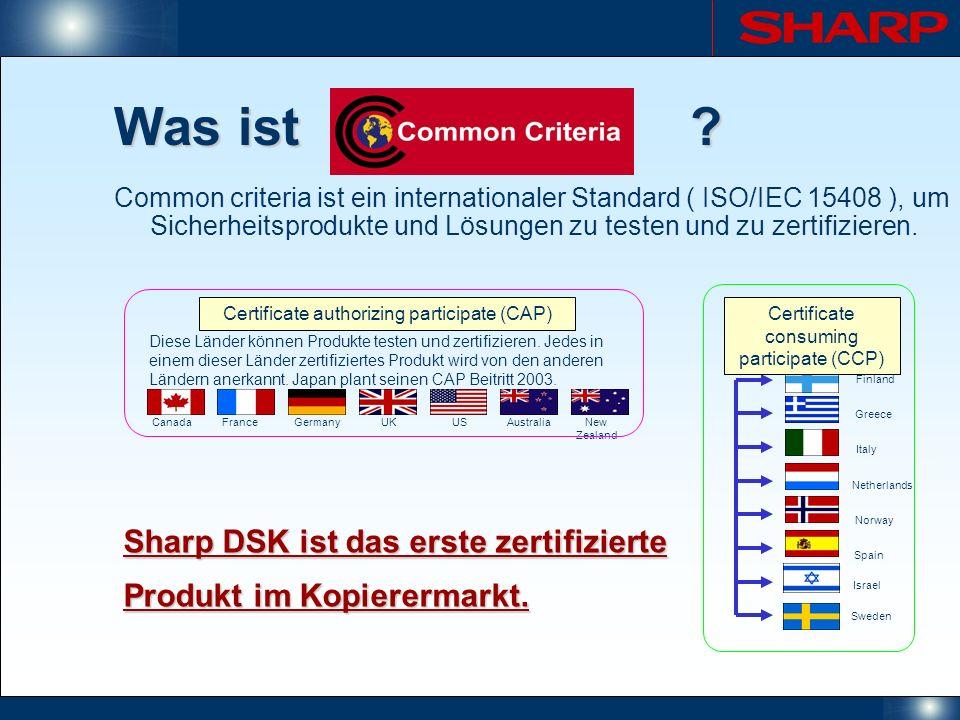 Was ist? Common criteria ist ein internationaler Standard ( ISO/IEC 15408 ), um Sicherheitsprodukte und Lösungen zu testen und zu zertifizieren. Canad