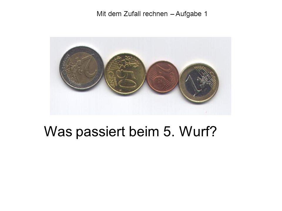 Mit dem Zufall rechnen Lösung Aufgabe 6 Taina und Leon Taina und Leon werfen jeweils 4 Münzen Spielregeln: Taina gewinnt z.