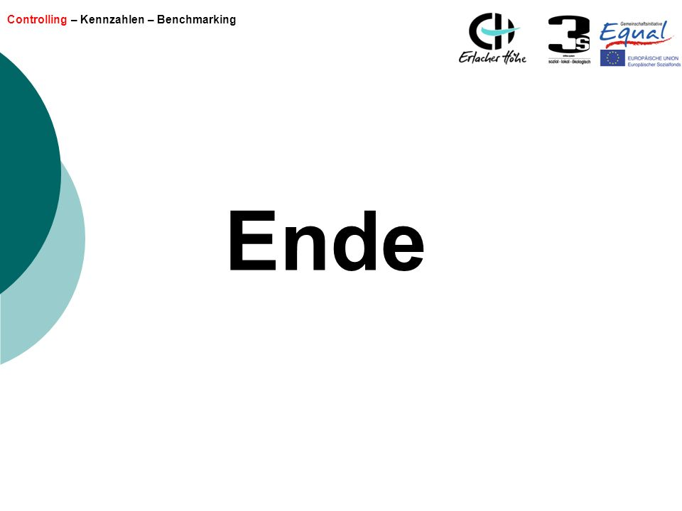 Controlling – Kennzahlen – Benchmarking Ende
