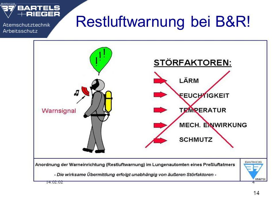 14 Restluftwarnung bei B&R!