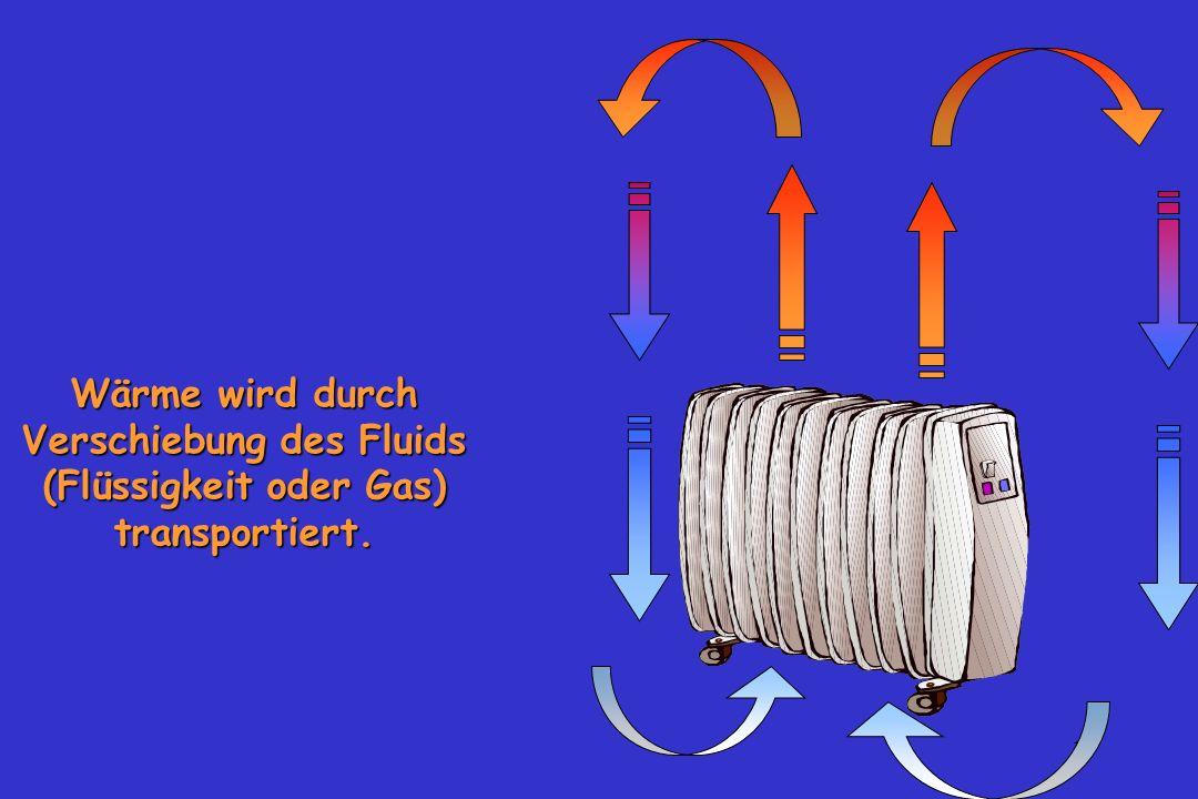 17 Wärme wird durch Verschiebung des Fluids (Flüssigkeit oder Gas) transportiert.