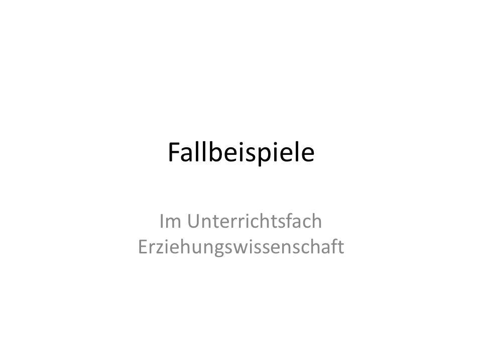 Quellen: Beyer, K., Handlungspropädeutischer Pädagogikunterricht.
