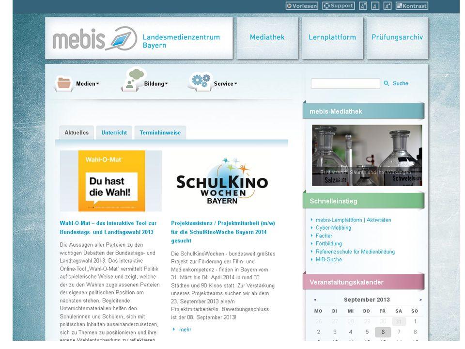 mebis - eine kurze Einführung mebis ist ein vom Kultusministerium geschaffenes Angebot, das eine Lernplattform und eine Mediathek umfasst.
