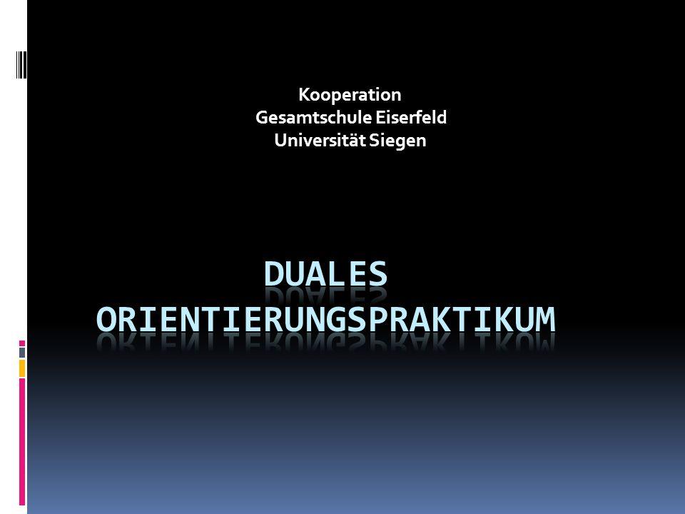Kooperation Gesamtschule Eiserfeld Universität Siegen