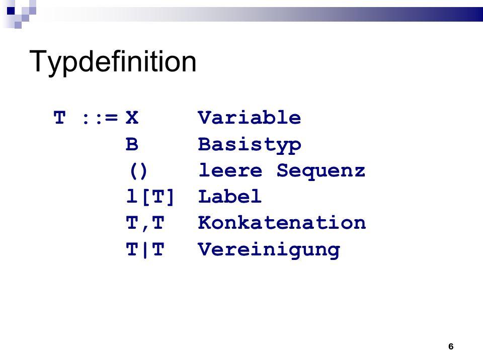 17 Restriktionen der Sprache XDuce wird weiter entwickelt.