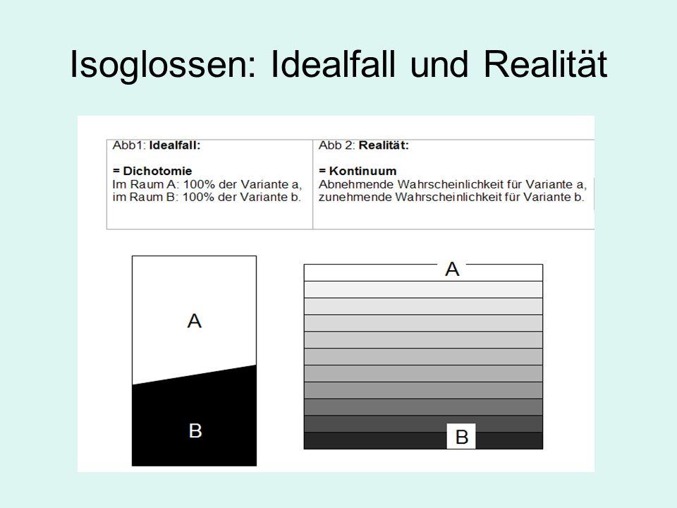 Isoglossen: Idealfall und Realität