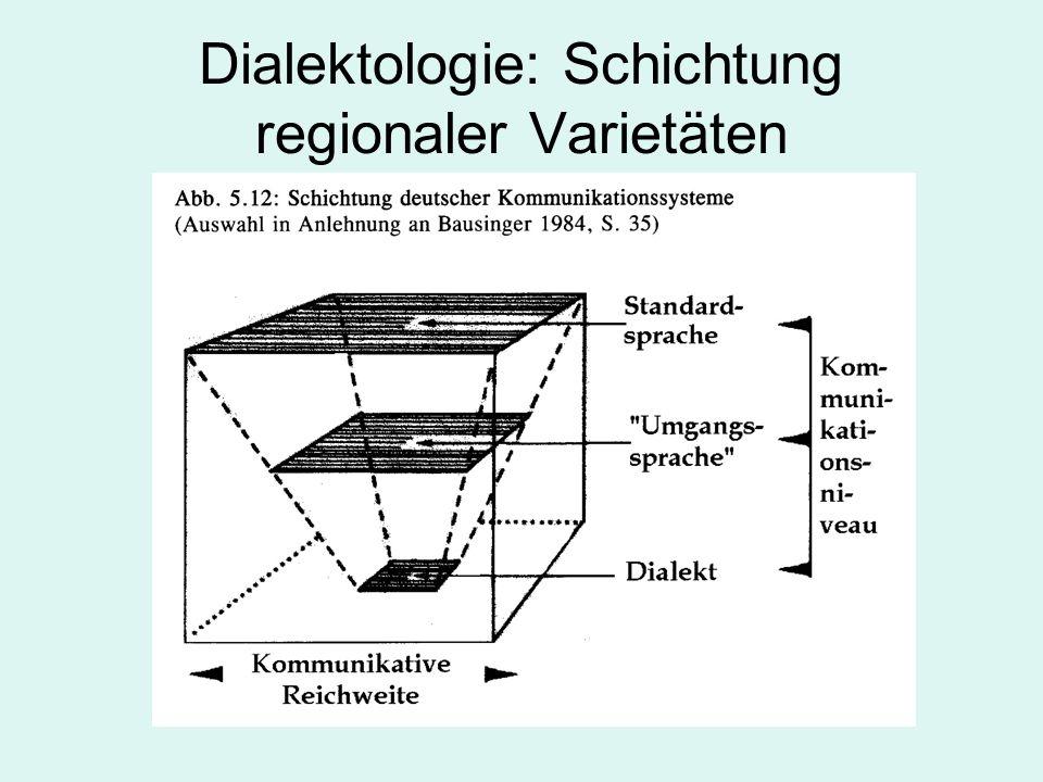 Dialektologie: Schichtung regionaler Varietäten