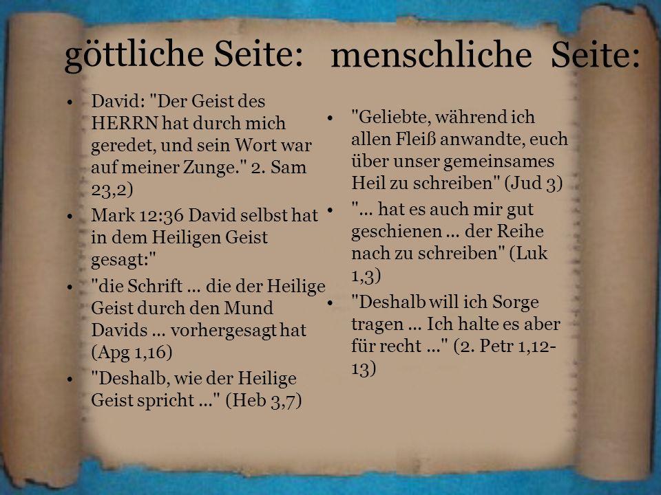 göttliche Seite: David: