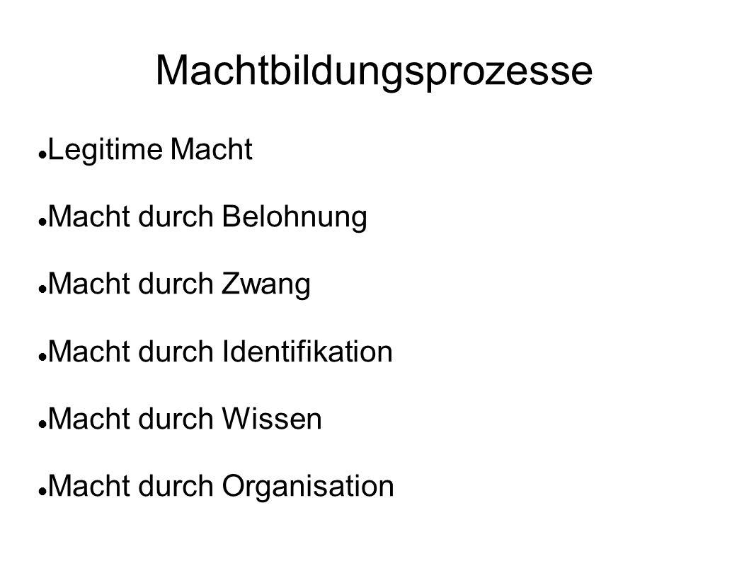 Organisationstypen Machtbildung als Ausdruck eines allg.