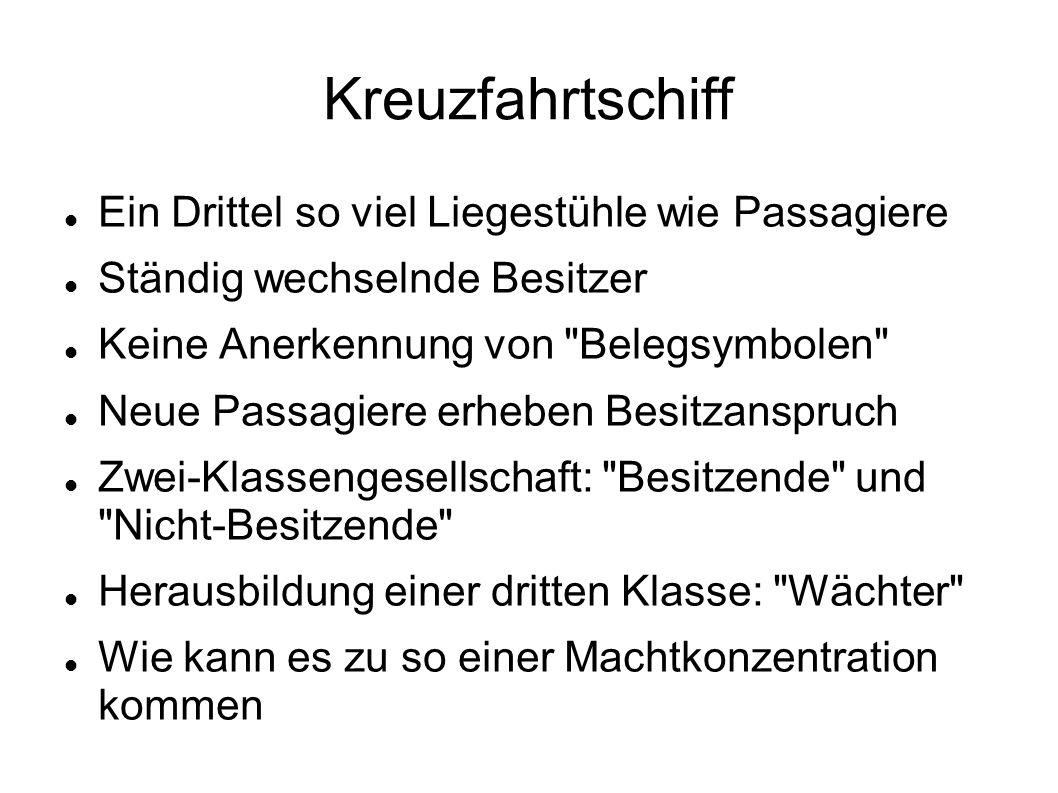 Kreuzfahrtschiff - Machtprinzipien 1.