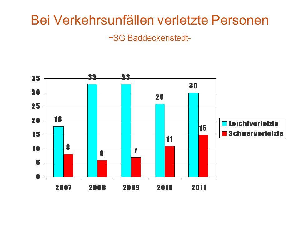 Bei Verkehrsunfällen verletzte Personen - SG Baddeckenstedt-