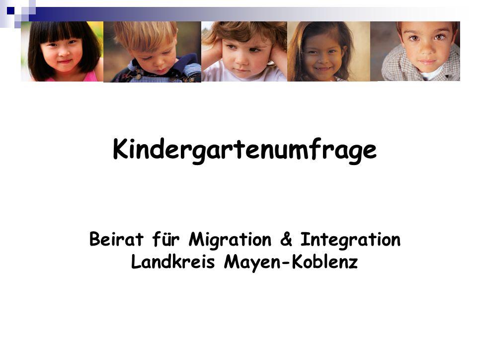 Kindergartenumfrage Beirat für Migration & Integration Landkreis Mayen-Koblenz