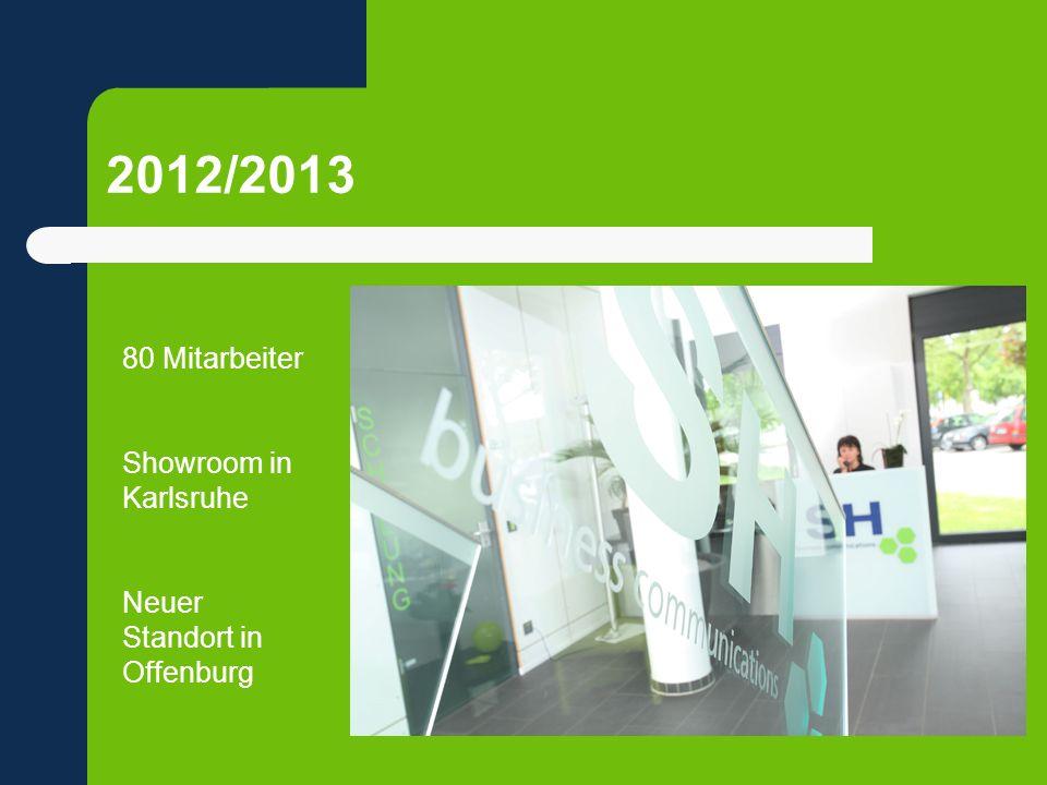2012/2013 80 Mitarbeiter Showroom in Karlsruhe Neuer Standort in Offenburg