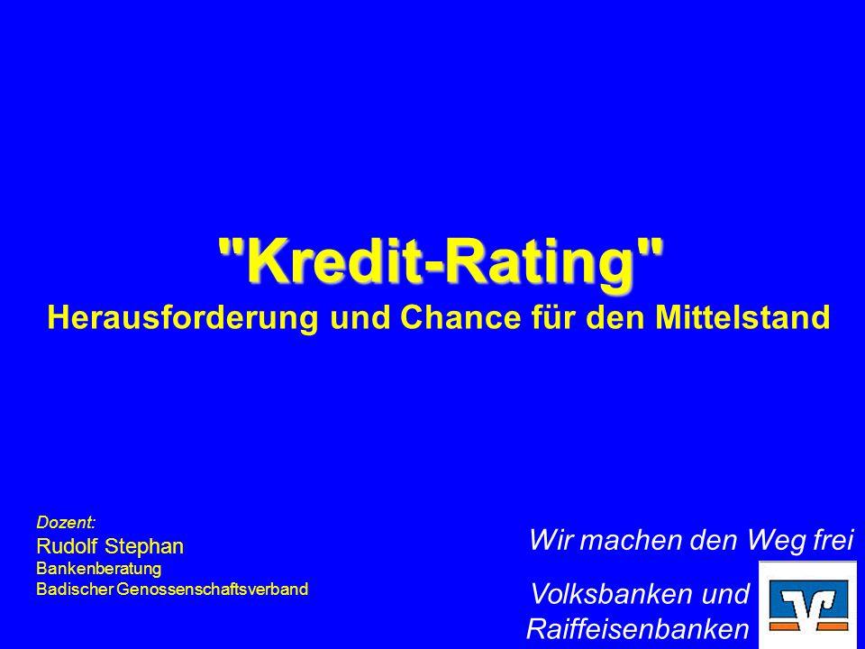 Badischer Genossenschaftsverband - Raiffeisen-Schulze-Delitzsch – e.V., Karlsruhe Rudolf Stephan Bankenberatung 1