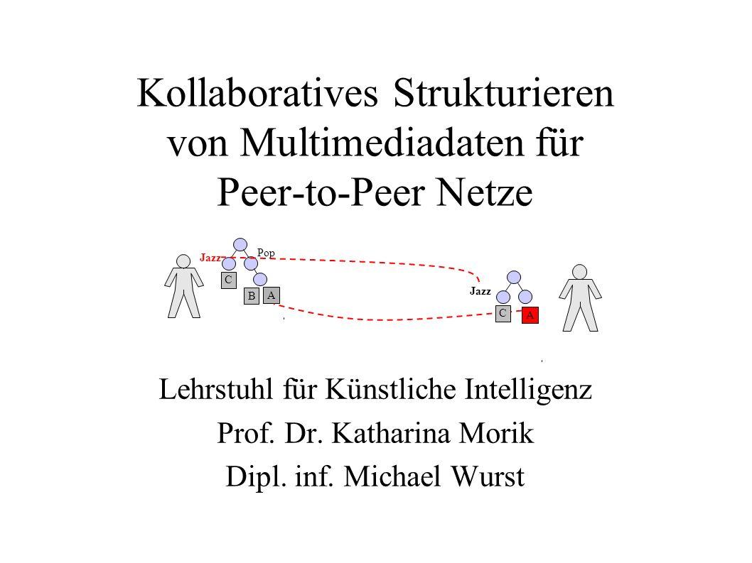 Kollaboratives Strukturieren von Multimediadaten für Peer-to-Peer Netze Lehrstuhl für Künstliche Intelligenz Prof. Dr. Katharina Morik Dipl. inf. Mich