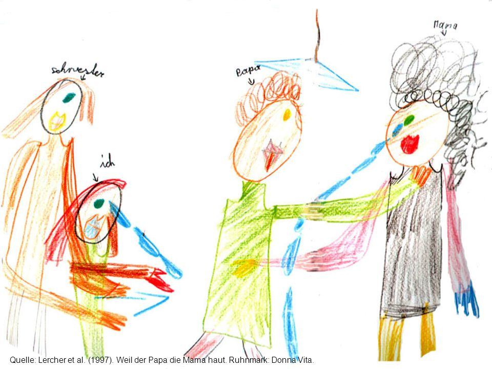 Ausüben von häuslicher Gewalt und Erziehungsfähigkeit In der Praxis stellenweise Vorannahme: Ausüben von häuslicher Gewalt und Erziehungsfähigkeit seien unabhängig Aber 16 Studien: Starker Zusammenhang zum Risiko von Kindesmisshandlung, Risk Ratio 6-12, deutlicher Dosiseffekt, risikoerhöhende bzw.