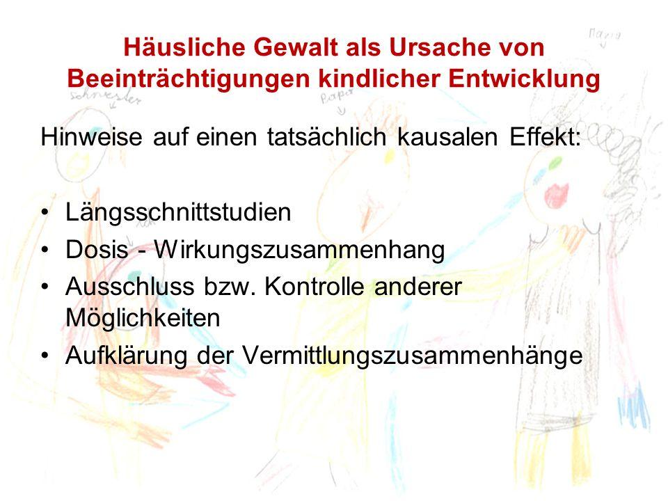 Anzeichen einer Traumatisierung nach häuslicher Gewalt Graham-Bermann & Levendosky, 1998, N=64, 7-12 Jahre: Ca.