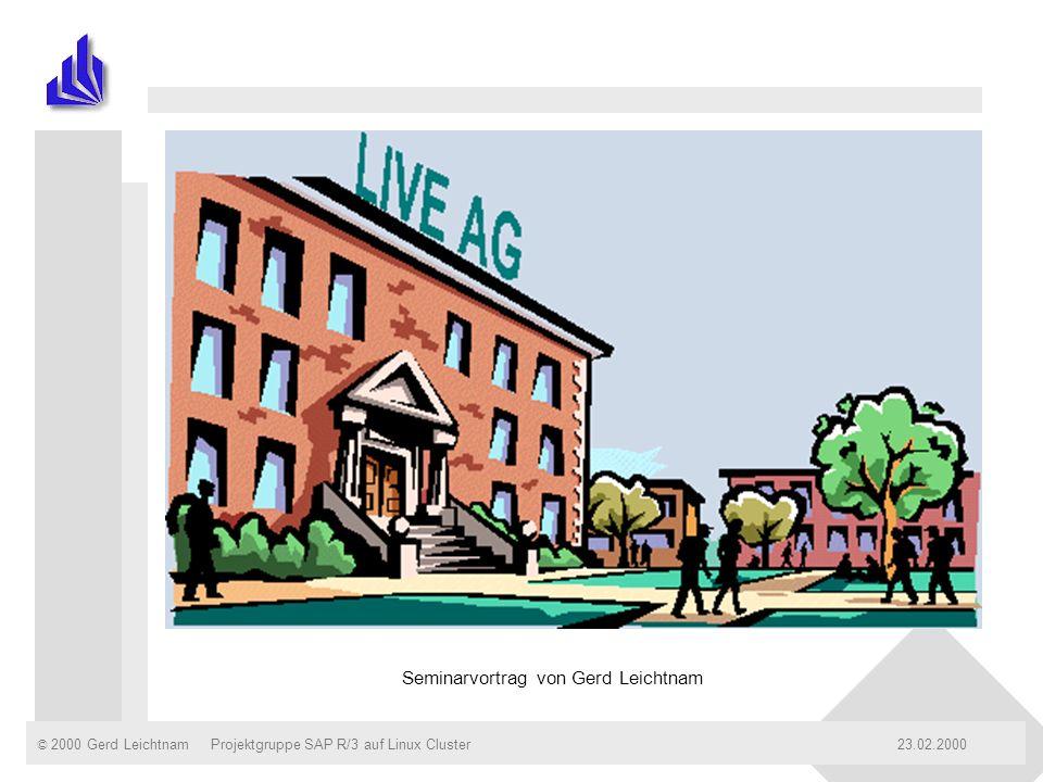 © 2000 Gerd Leichtnam23.02.2000Projektgruppe SAP R/3 auf Linux ClusterSeite: 12 Bilanz der LIVE AG zum 31.10.1998 LIVE AG A.