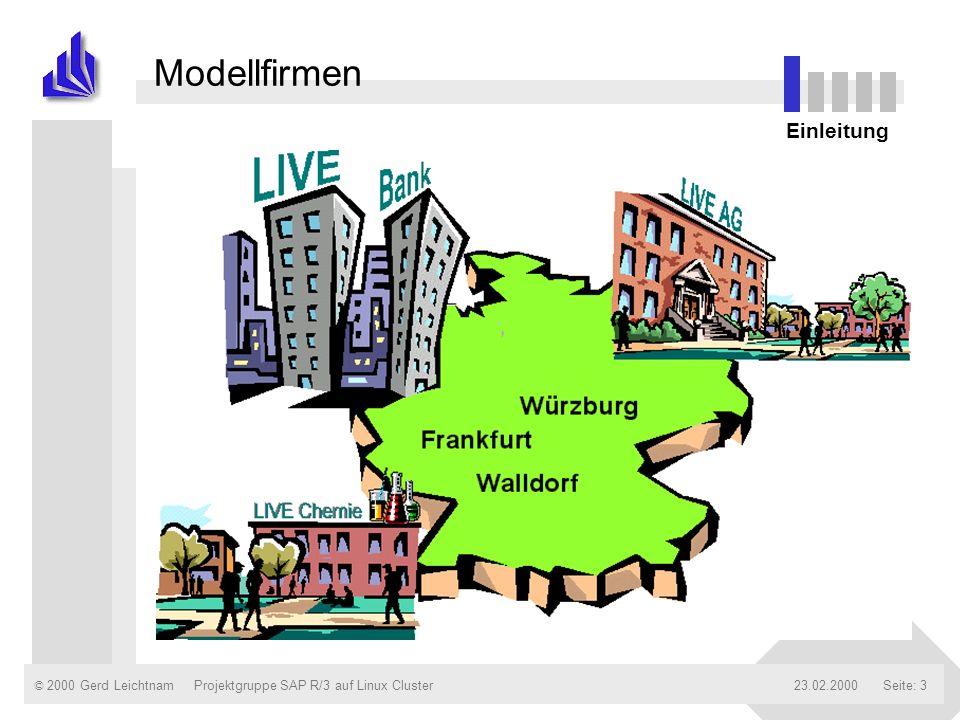 © 2000 Gerd Leichtnam23.02.2000Projektgruppe SAP R/3 auf Linux ClusterSeite: 14 Verkauf der LIVE AG LIVE AG