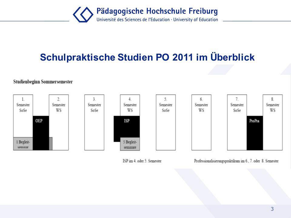 3 Schulpraktische Studien PO 2011 im Überblick