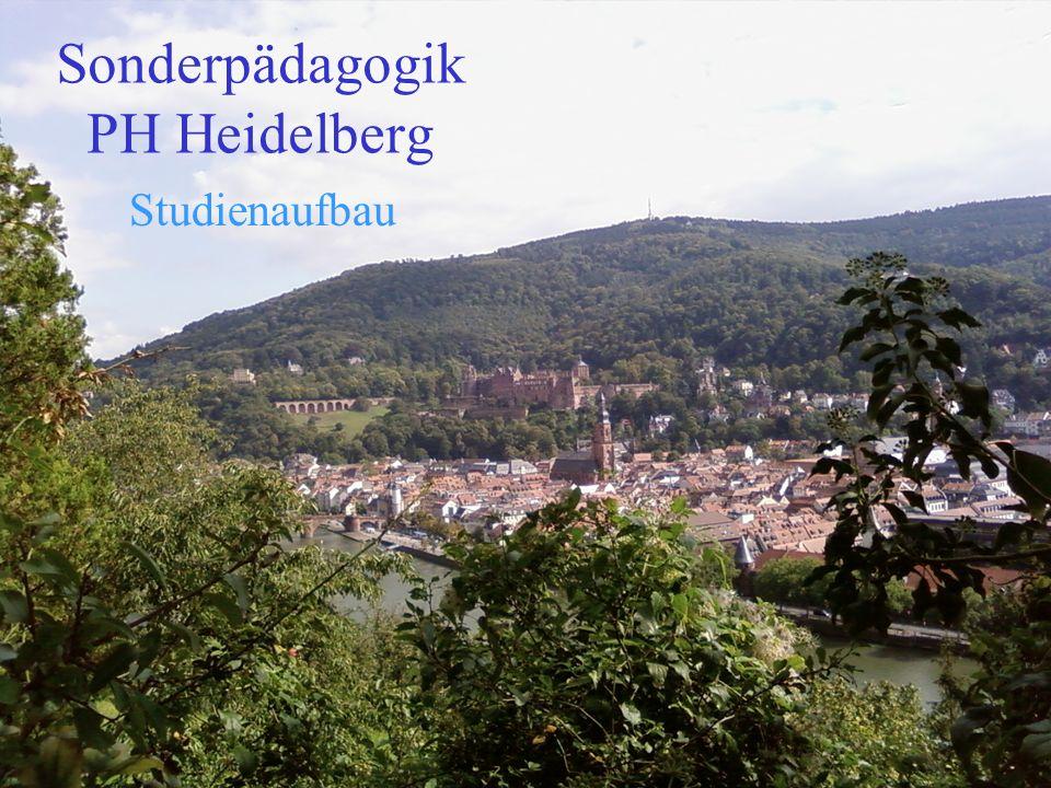 Sonderpädagogik PH Heidelberg Studienaufbau