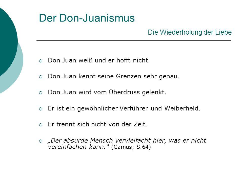 Der Don-Juanismus Strafe für Don Juan.Ein Schicksal ist keine Strafe.