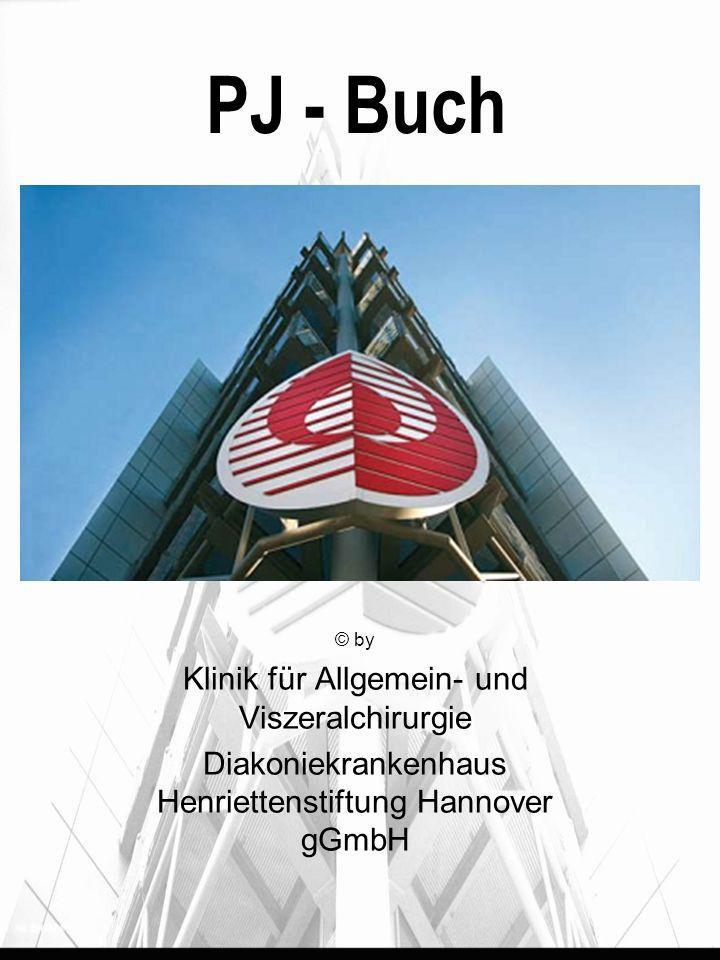 PJ - Buch © by Klinik für Allgemein- und Viszeralchirurgie Diakoniekrankenhaus Henriettenstiftung Hannover gGmbH