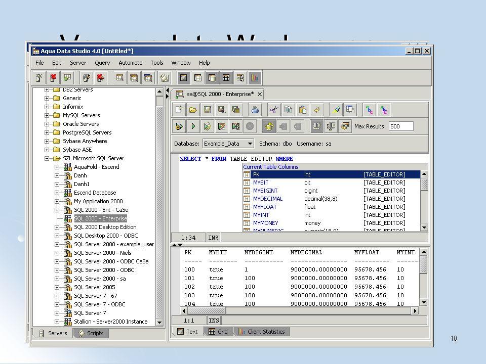 Jan Weinschenker10 Verwendete Werkzeuge Eclipse-Plugins Eclipse-Plugins XMLBuddy XMLBuddy QuantumDB QuantumDB Fedora Linux Fedora Linux Aqua Data Studio Aqua Data Studio Ant Ant
